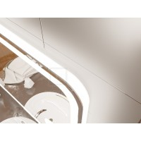 Зеркало с подсветкой для ванной комнаты Анкона 100х80 см (1000х800 мм)