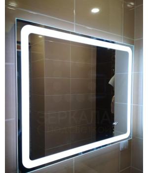 Зеркало для ванной комнаты с LED подсветкой Равенна 100х80 см (1000х800 мм)