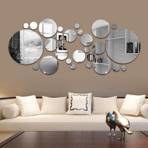 Круглое зеркальные панно