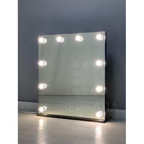 Гримерное зеркало без рамы 80х70 с подсветкой на подставке