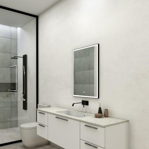 Зеркало с подсветкой для ванной комнаты Фрейм Блэк