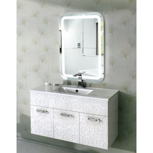 Зеркало с подсветкой в ванную комнату Эстер 55х80 см